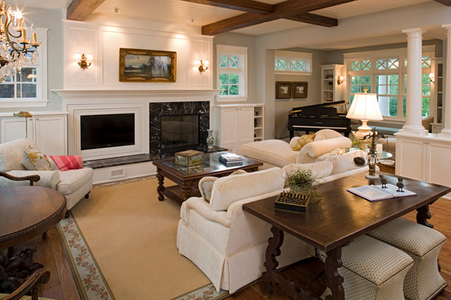 Charmant Far Hill Cape Cod Beach Style Living Room