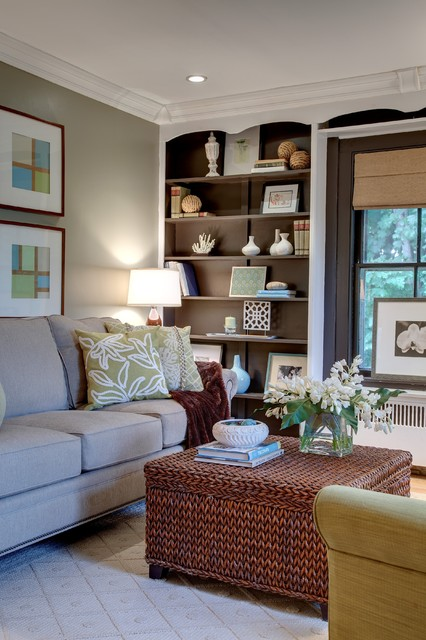 Farmhouse Charmer Living Room Transitional Living Room Bridgeport By Wall To Wall Home