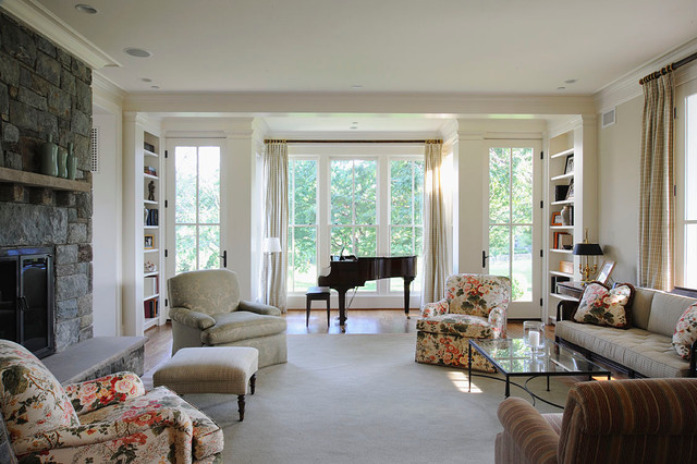 farmhouse traditional living room dc metro by. Black Bedroom Furniture Sets. Home Design Ideas
