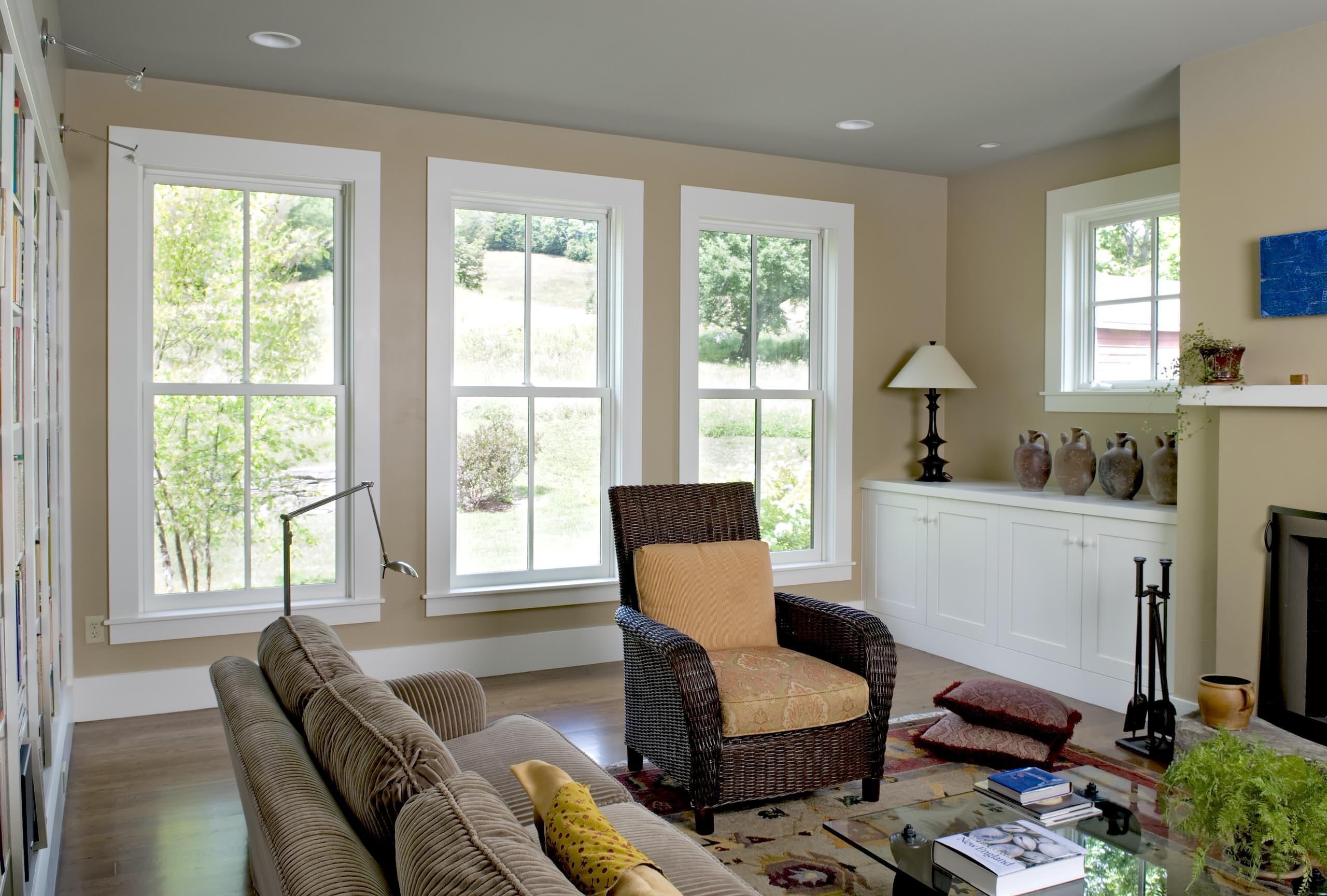 3 Windows Living Room Ideas Photos Houzz
