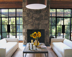 Farmhouse, Shelter Island contemporary living room