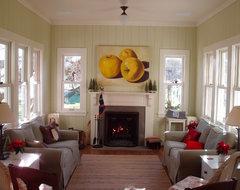 Farmhouse traditional-living-room