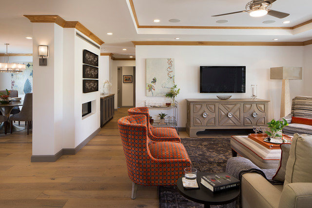 Farmhouse Style With Glam Factor For A Busy Silicon Valley Couple Transitional Living Room