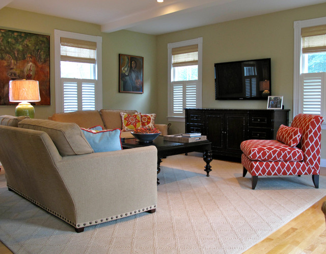 Farmhouse Update Transitional Living Room Other By Liz Hause Interior Design