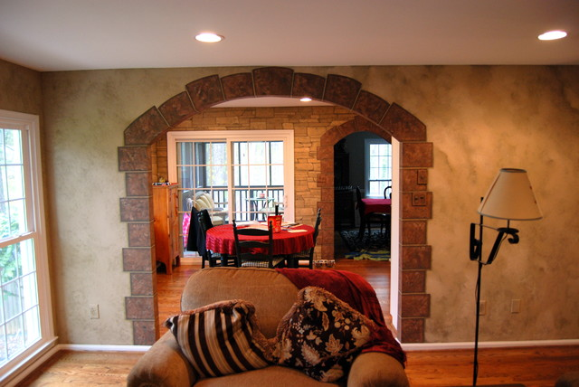 Fake Stone Wall In Living Room