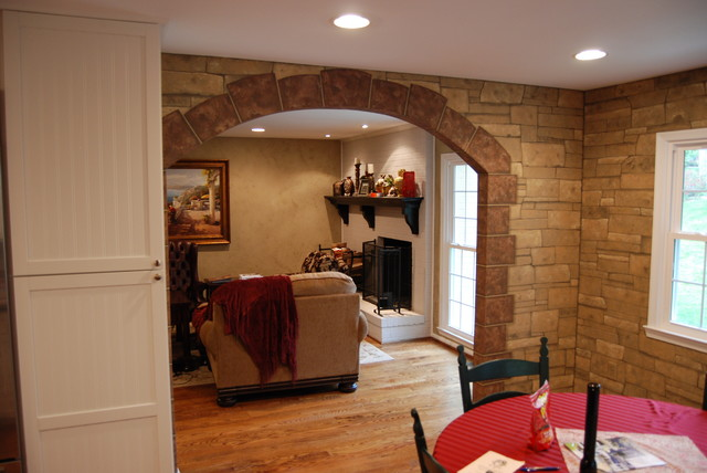 Faux Ledge Stone In Kitchen And Living Room Walls By Tom Taylor Of Wow  Effects Traditional