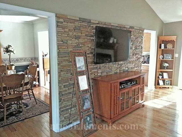 Faux Stone Traditional Living Room Atlanta By