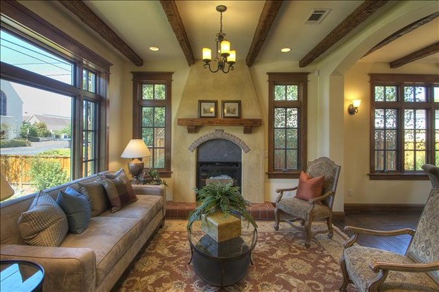 Faux Wood Beam Ceiling Designs Traditional Living Room