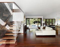 Fay Residence modern-living-room