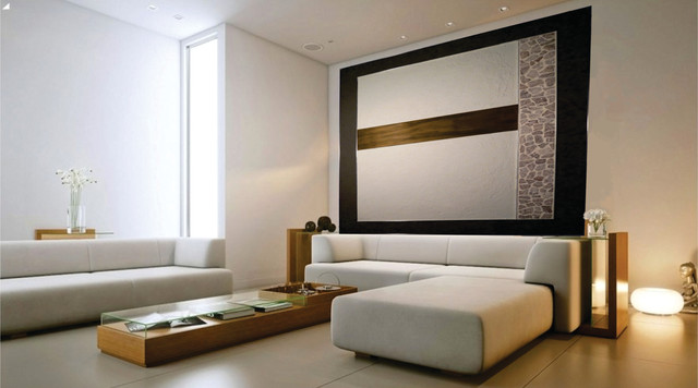 Feature Wall Concept Contemporary Living Room