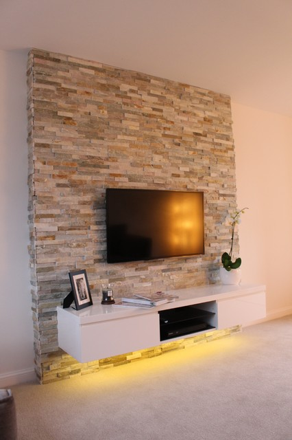 Feature Wall Project Contemporary Living Room Other By Mrs Stone Store
