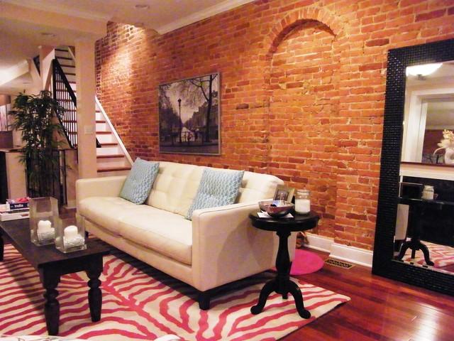Feminine urban living room contemporary living room baltimore by singular design interiors Contemporary urban living room