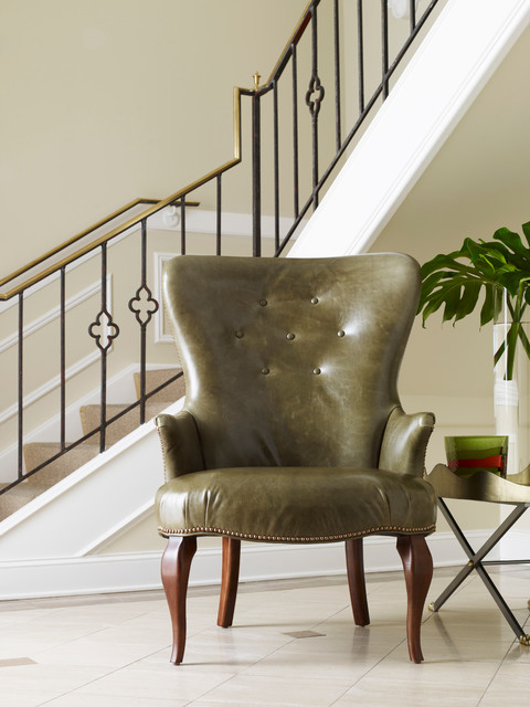 Ferguson Copeland Fowler Leather Chair traditional-living-room