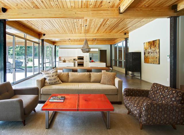Ferguson/Crowther House modern-living-room