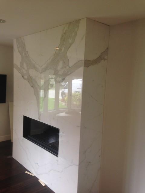 Fiandre Calacatta Porcelain Living Room Calgary By