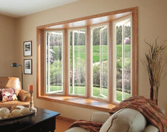 Fiberglass Bow Window contemporary living room