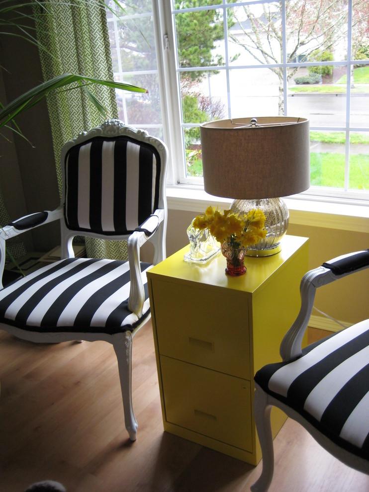 Living room - eclectic living room idea in Portland