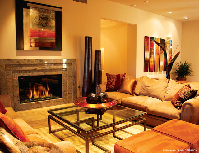 Fine art installations eclectic living room by minneapolis art