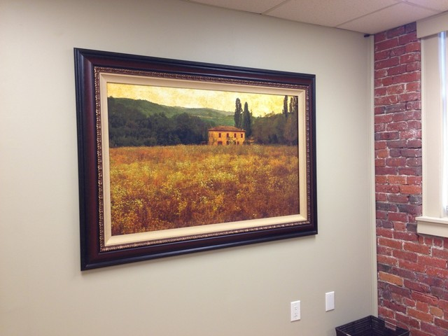 Fine Art Tv Cover For 55 In Office Traditional Living Room