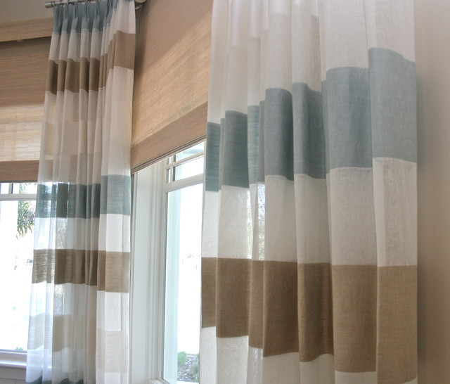 Beach Window Curtains Part - 19: Window Treatments. Finishing Touches Beach-style-living-room