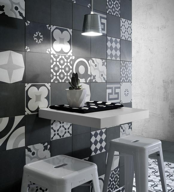 Fioranese Cementine Black & White - Living Room - Calgary - by