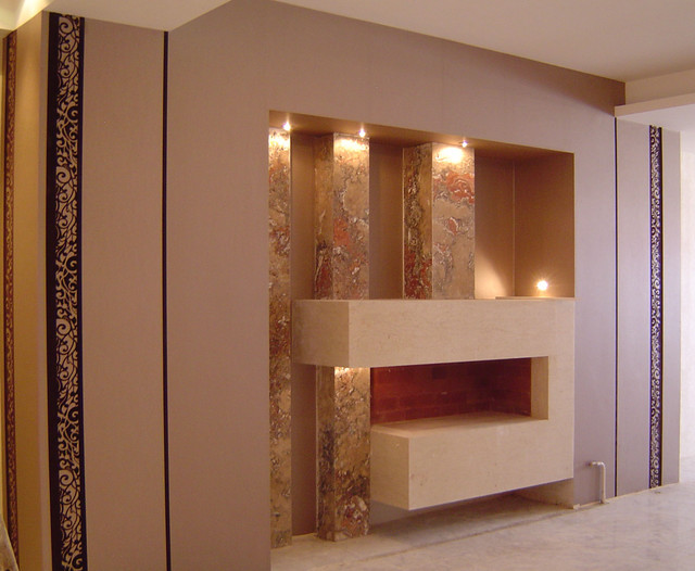 fire place modern-living-room