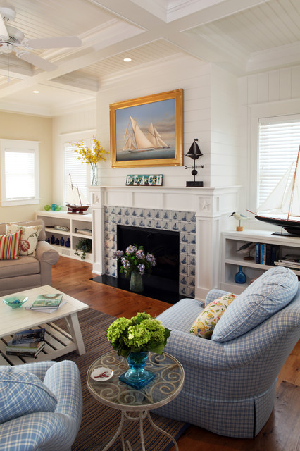 Fire Places beach-style-living-room