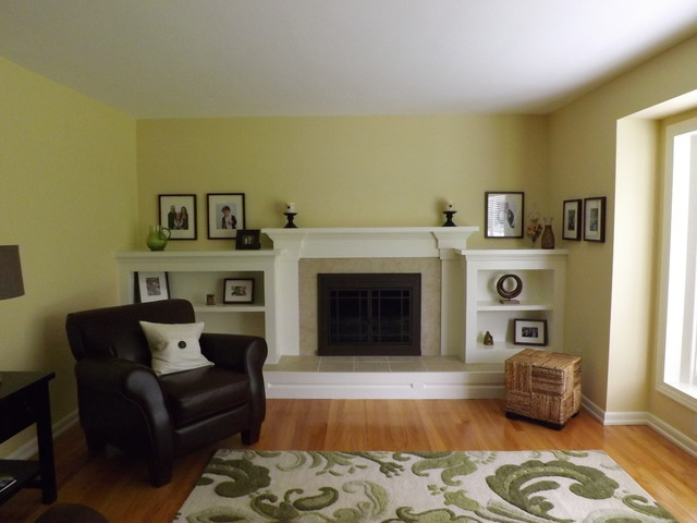 Firepalce Remodeling Traditional Living Room Detroit