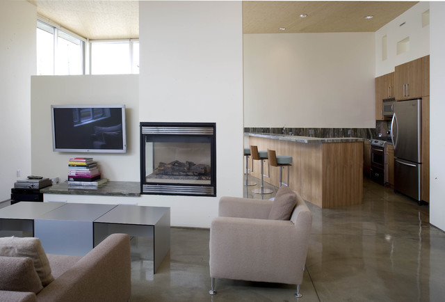 Fireplace A Divider Of Space By Mgs Architecture