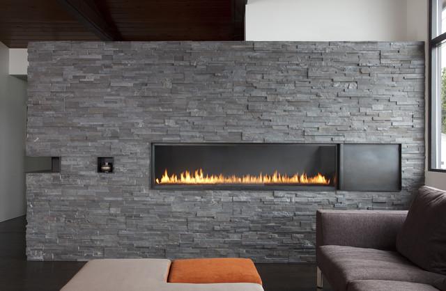 Fireplace - Bastasch Residence - Modern - Living Room - San ...