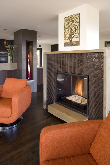 Fireplace modern living room