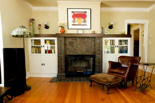 Fireplace cap and cabinets - Traditional - Living Room - San Francisco - by The Wood Connection