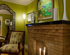 fireplace eclectic-living-room