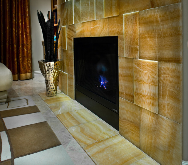 Fireplace Design - Contemporary - Living Room - phoenix - by CeTerra Accents & Interiors