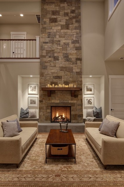 Fireplace design ideas traditional living room for Living room decor ideas houzz