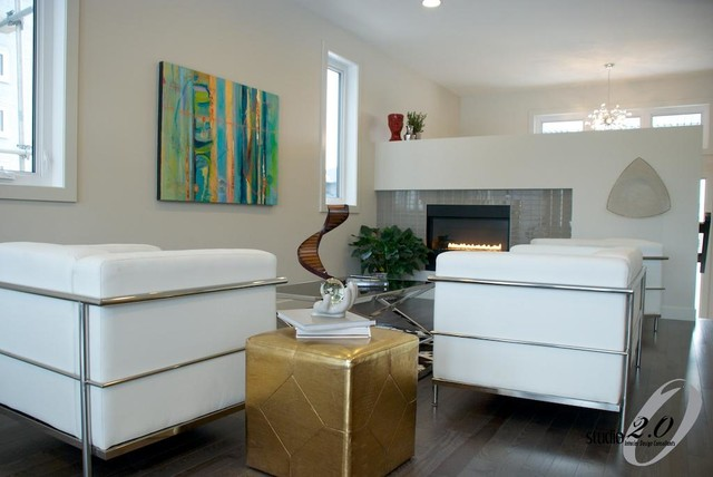 Fireplace Design contemporary-living-room