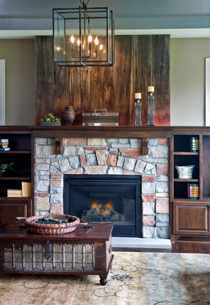 Inspiration for a timeless living room remodel in Minneapolis