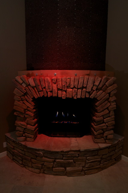 Fireplace Facelift Transitional Living Room Phoenix
