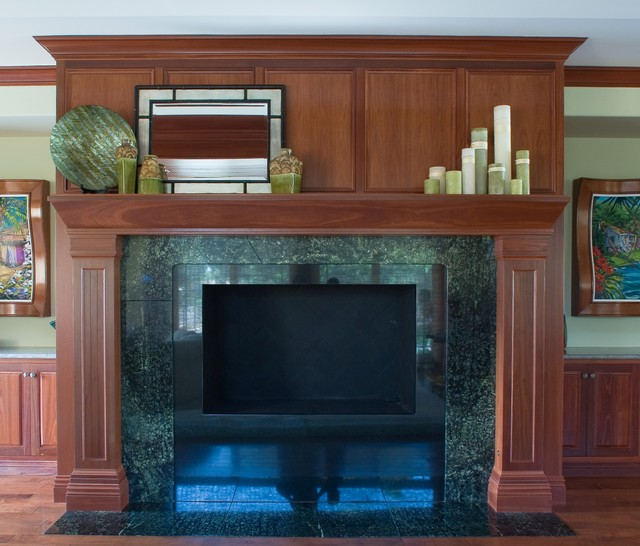 Fireplace Hand Crafted from Jarrah Wood - Tropical ...