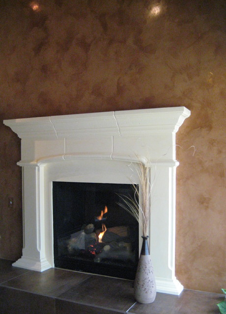 Fireplace - Italian Venetian Plaster - Bella Faux Finishes eclectic-living-room