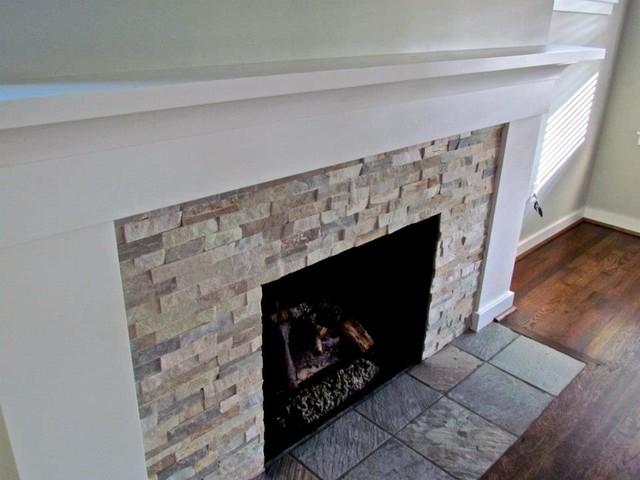 Troy Tile Stone Kitchen Bath Fixtures Fireplace Ledgestone Beachwalk Traditional Living Room