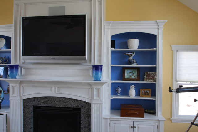 Fireplace Mantel Wall Unit Traditional Living Room New York By The