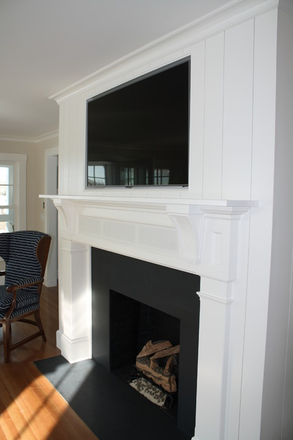 Fireplace Mantels amp Benches Beach Style Boston By