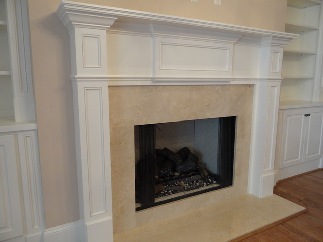 Fireplace Mantels Traditional Living Room Charlotte