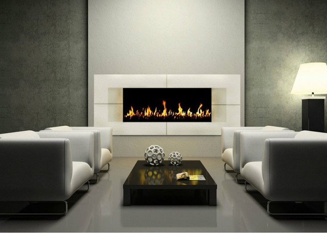 Fireplace mantels modern living room other metro by joceco - Living room contemporary fireplace design ...
