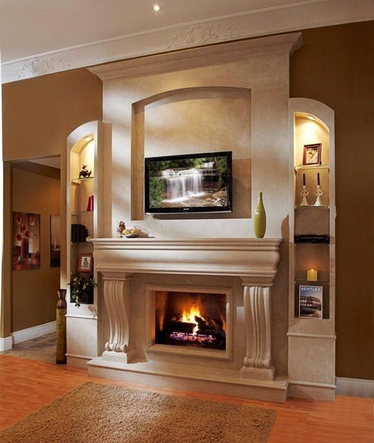 Mantel Surround Designs: Omega Fireplace Mantel Of Stone San Francisco