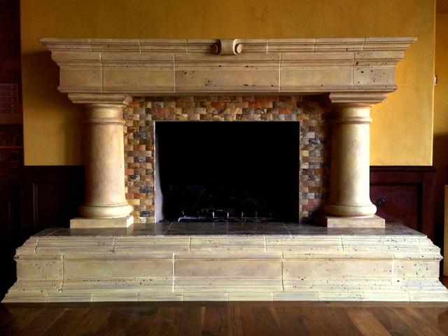 Fireplace-Rancho Santa Fe traditional-living-room