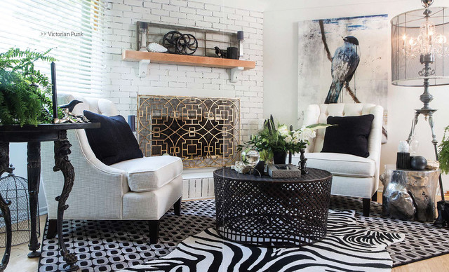 Fireplace Refresh eclectic-living-room