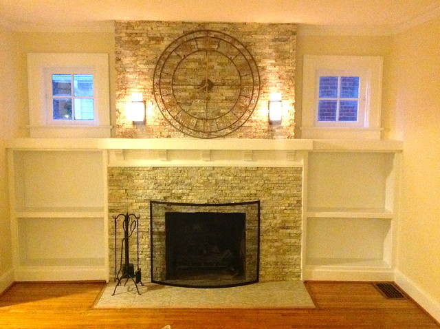 Fireplace Remodel Traditional Living Room Indianapolis By Natural Val