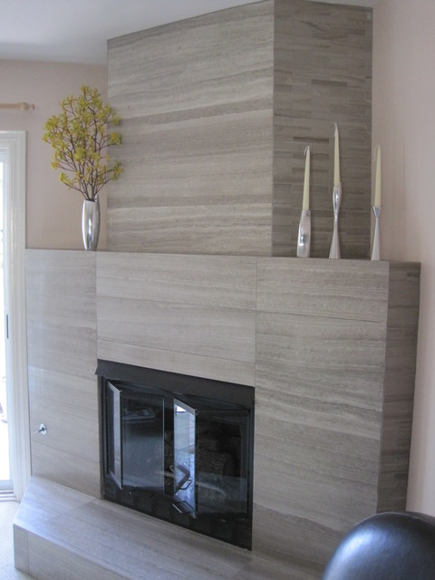 Fireplace Renovation Modern Living Room San Diego
